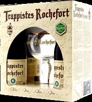 Подарочный набор Трапист Рошфор 8( 4 бутылки+бокал)